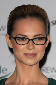 Kara Tointon wore a warm pearly pink lipstick at the 2011 Spectacle Wearer of the Year.