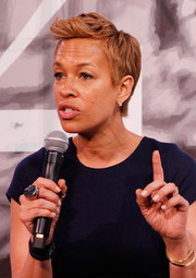 Tonya Lewis Lee showed off a stylish sculpted fauxhawk at the 2014 American Black Film Festival.