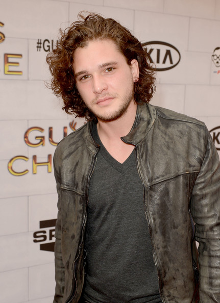 More Pics of Kit Harington Medium Curls (2 of 2) - Shoulder Length Hairstyles Lookbook - StyleBistro