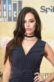 Chloe Bridges left her hair loose in a messy-chic wavy style when she attended Spike TV's Guys Choice 2016.