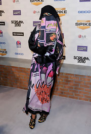 M.I.A. was guaranteed to stand out at the Scream 2010 in a custom, printed burqa.