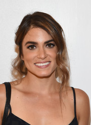 Nikki Reed sported a messy-romantic updo at the Splendid Tanktastic event.
