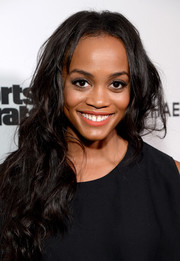 Rachel Lindsay wore her hair down in messy waves at the Sports Illustrated 2017 Fashionable 50 celebration.