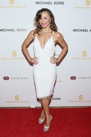 Karina Smirnoff looked seductive in a lingerie-inspired LWD during the Sports Spectacular Luncheon.