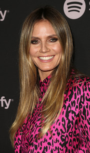 Heidi Klum framed her face with a sleek straight 'do for the Spotify Best New Artist 2019 party.