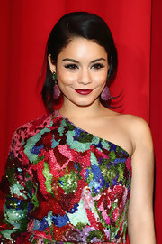 Vanessa Hudgens' didn't shy away from the color red at the Germany premiere of 'Spring Breakers' with a sparkly dress and bright red lips.