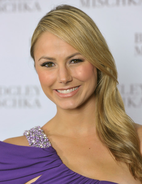Actress Stacey Keibler arrives to the opening of the Badgley Mischka