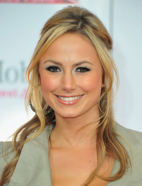 Actress Stacey Keibler arrives to the TMobile Magenta Carpet at the 2011
