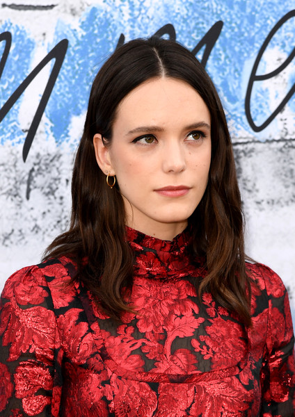 Stacy Martin Long Center Part [hair,face,hairstyle,red,beauty,fashion,eyebrow,lip,long hair,ear,serpentine galleries,chanel,summer party,red carpet arrivals,the serpentine gallery,england,london,the summer party,stacy martin]