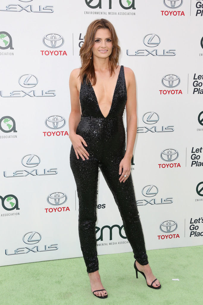 Stana Katic Jumpsuit Stana Katic Looks Stylebistro