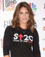 Jillian Michaels' shoulder-length curly 'do was a glam complement to her casual attire at the Stand Up to Cancer benefit.