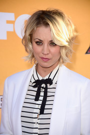 Kaley Cuoco sported a messy short 'do at the All-Star Dog Rescue celebration.