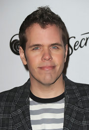 Perez Hilton's fauxhawk was an edgy contrast to his wacky print-on-print outfit during Star Magazine's Young Hollywood Issue launch.