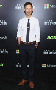 Tom stuck to dark navy chinos for his look at the 'Star Trek Into Darkness' screening in NYC.