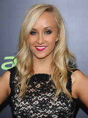 Nastia Liukin chose piecey waves for her evening look at the NYC screening of 'Star Trek Into Darkness.'