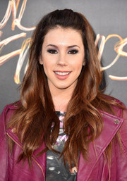 Jillian Rose Reed wore her hair in a youthful and sweet half-up style during the premiere of 'We Are Your Friends.'