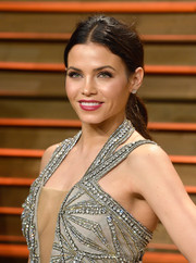Jenna Dewan-Tatum opted for a simple center-parted ponytail when she attended the Vanity Fair Oscar party.