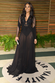 Regina Hall steamed up the Vanity Fair Oscar party with this sheer black Alon Livne gown.