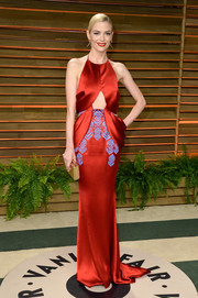 Jaime King proved a cutout dress could be more elegant than sexy with this red Ulyana Sergeenko number that she wore to the Vanity Fair Oscar party.