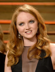 Lily Cole looked adorable with her bouncy curls at the Vanity Fair Oscar party.