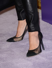 Maria Bello chose a pair of see-through cap-toe pumps to complete her ensemble at the Variety Power of Women event.