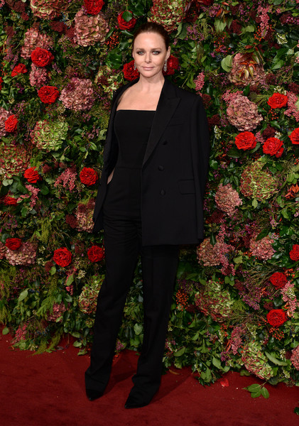 Stella McCartney Pantsuit [clothing,red,outerwear,fashion,formal wear,pantsuit,carpet,suit,dress,flooring,red carpet arrivals,stella mccartney,evening standard theatre awards,london,england,theatre royal]