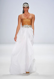 Shermine Shahrivar walked the runway wearing another lovely Stephan Pelger creation.