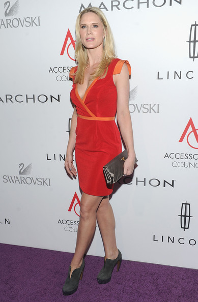 Stephanie March Ankle Boots [clothing,dress,cocktail dress,shoulder,red,hairstyle,footwear,joint,fashion,carpet,arrivals,stephanie march,ace awards,cipriani 42nd street,new york city]