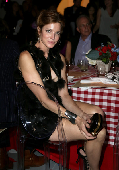 Stephanie Seymour Hard Case Clutch [yessss,the opening of the exhibition urs fischer,leg,thigh,event,human leg,fawn,ferrari,stephanie seymour,moca gala,yesssss,los angeles,the geffen contemporary,opening,exhibition]