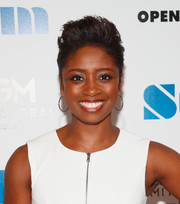 Montego Glover went edgy-chic with this fauxhawk at the New York premiere of 'Stockholm.'