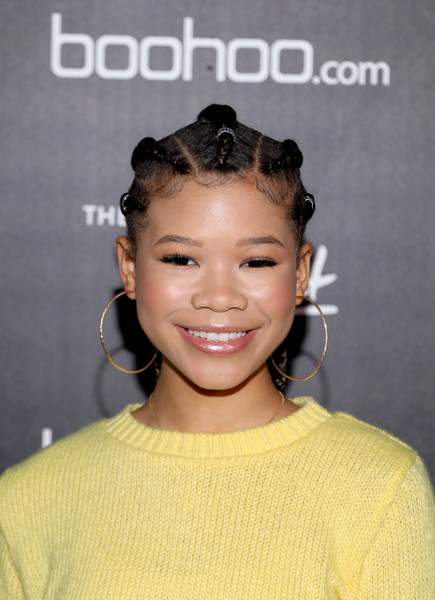 Storm Reid Long Cornrows