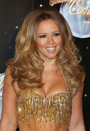 Kimberley Walsh was retro-glam at the 'Strictly Come Dancing' red carpet launch with this long curly bouffant.