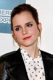 Emma Watson wore a sheer red lipstick topped with clear gloss for the premiere of 'Struck By Lightning.'