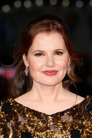 Geena Davis swept her hair back into a loose, wavy ponytail for the BFI London Film Fest premiere of 'Suffragette.'