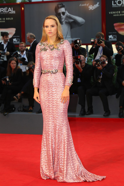 Suki Waterhouse Sequin Dress