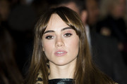 Suki Waterhouse Long Straight Cut with Bangs