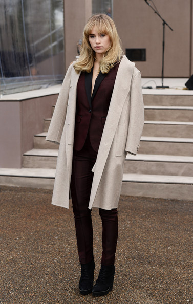 Suki Waterhouse Wool Coat