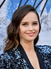 Felicity Jones looked lovely with her side-parted, wavy 'do at the 2019 Serpentine Gallery Summer Party.