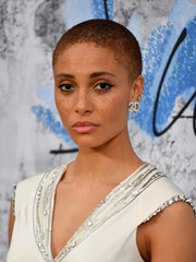 Adwoa Aboah stuck to her signature buzzcut at the 2019 Serpentine Gallery Summer Party.