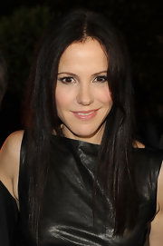 Mary-Louise Parker's leather dress and super straight tresses made for an edgy look at 'A Better Life' DVD and Blu-Ray launch party.