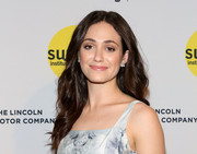Emmy Rossum looked very pretty wearing her hair loose with subtle waves at the Sundance Institute Vanguard Leadership Award.