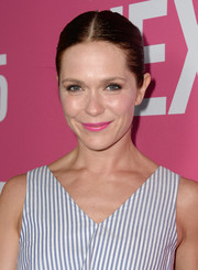Katie Aselton sported a tight center-parted bun at the LA premiere of 'Mistress America.'