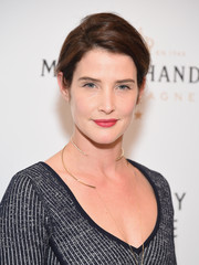 Cobie Smulders styled her hair into a loose updo for the Broadway opening of 'Sunday in the Park with George.'