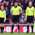 Assistant Referee Sian Massey (L) during the Barclays Premier League match between Sunderland and Blackpool at the Stadium of Light on December 28, 2010 in Sunderland, England.