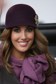 If anyone knows hat fashion it's Rebecca. The model dons a fantastic riding hat with a dazzling pin.