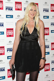 Lauren Jackson looked seductive in a halter LBD at the 'I Support Women in Sport' Awards.