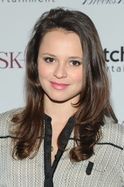 Sasha Cohen wore her hair down with wavy ends when she attended the 'Big Sur' premiere in New York City.