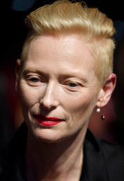 Tilda Swinton was a rockstar with her perfectly styled fauxhawk at the BFI London Film Festival premiere of 'Suspiria.'