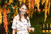 Sutton Foster Off-the-Shoulder Dress