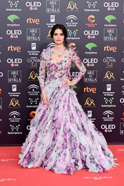 Penelope Cruz made a dramatic entrance at the 2020 Goya Cinema Awards in a lavender floral ballgown by Ralph & Russo Couture.